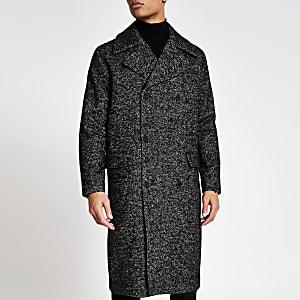Jack and Jones dark grey longline coat