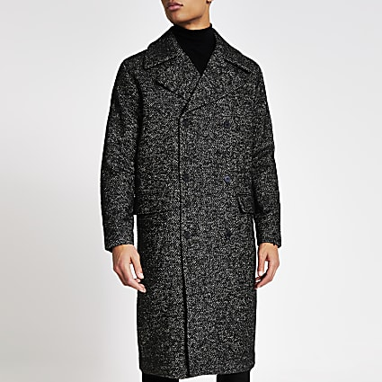 Jack and Jones dark grey longline coat