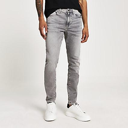 Grey Sid stretch skinny jeans