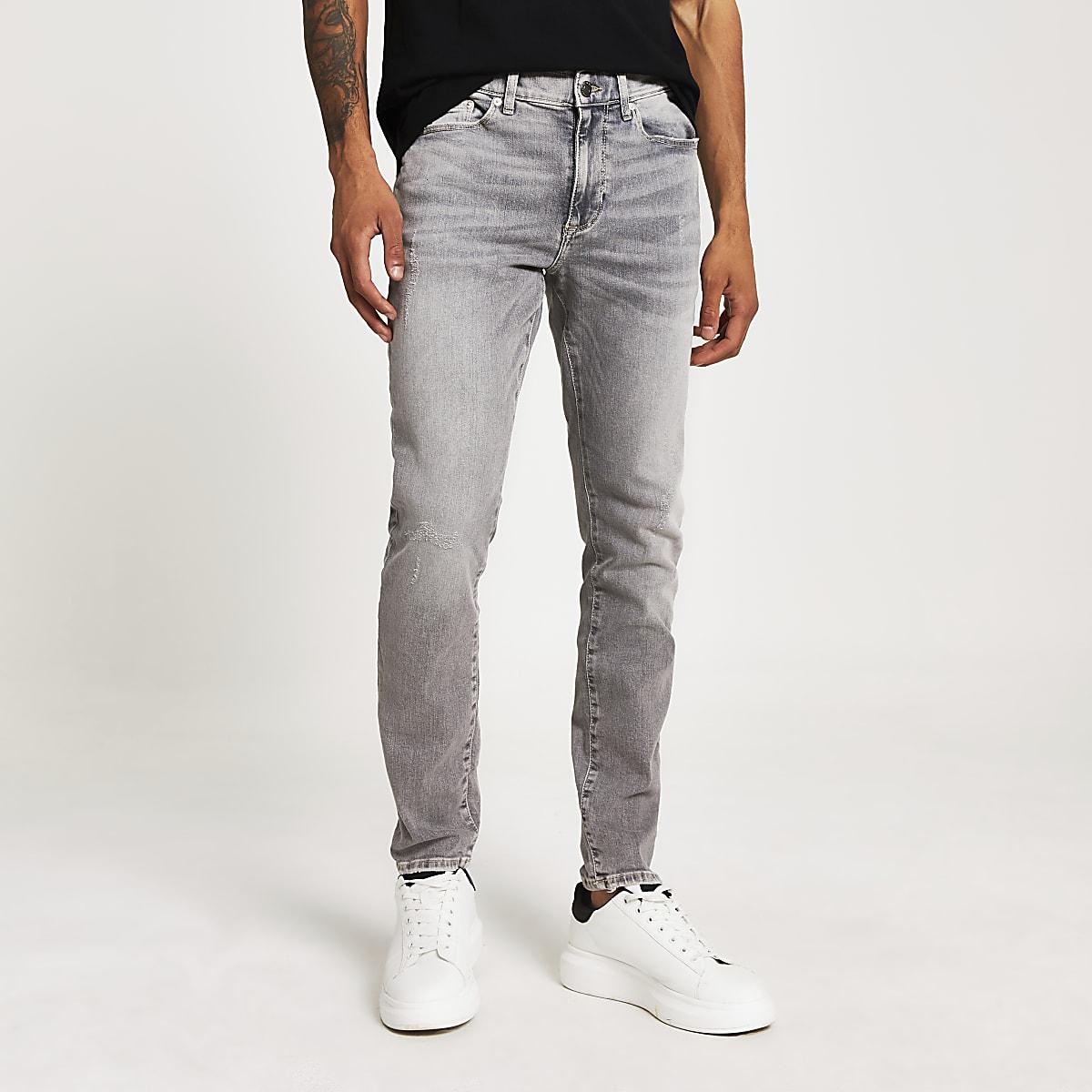 Sid - Grijze rekkende skinny jeans