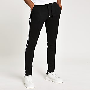 Zwarte superskinny nette joggingbroek