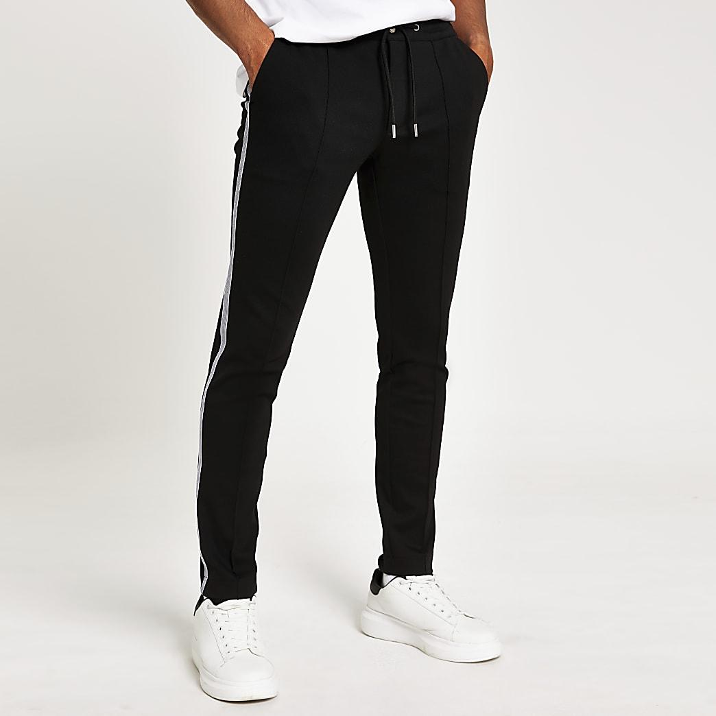 Pantalon de jogging super skinny noir avec bande latérale