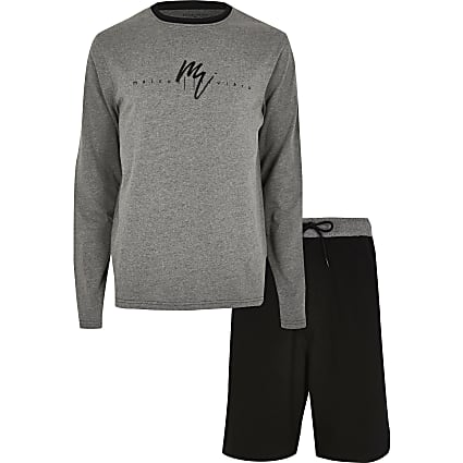 Maison Riviera grey short loungewear outfit