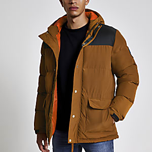 Bellfield - Veste rembourrée marron colour block
