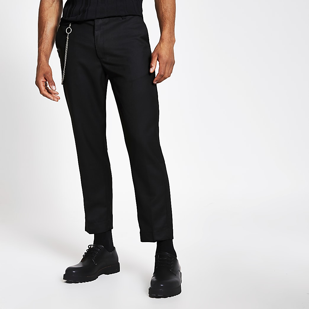 Bellfield black chain trousers