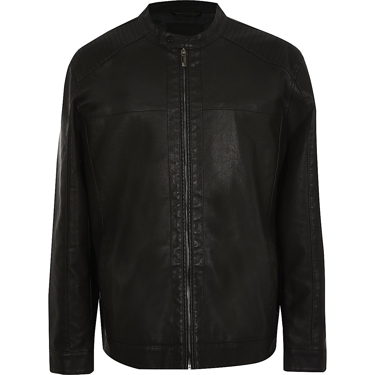 Only & Sons Big and Tall black racer jacket