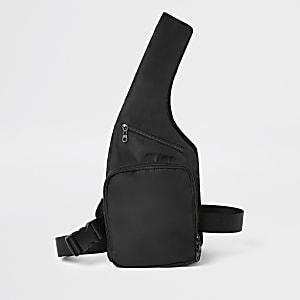 MCMLX - Zwarte borsttas met harnas