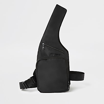 Black MCMLX harness chest bag