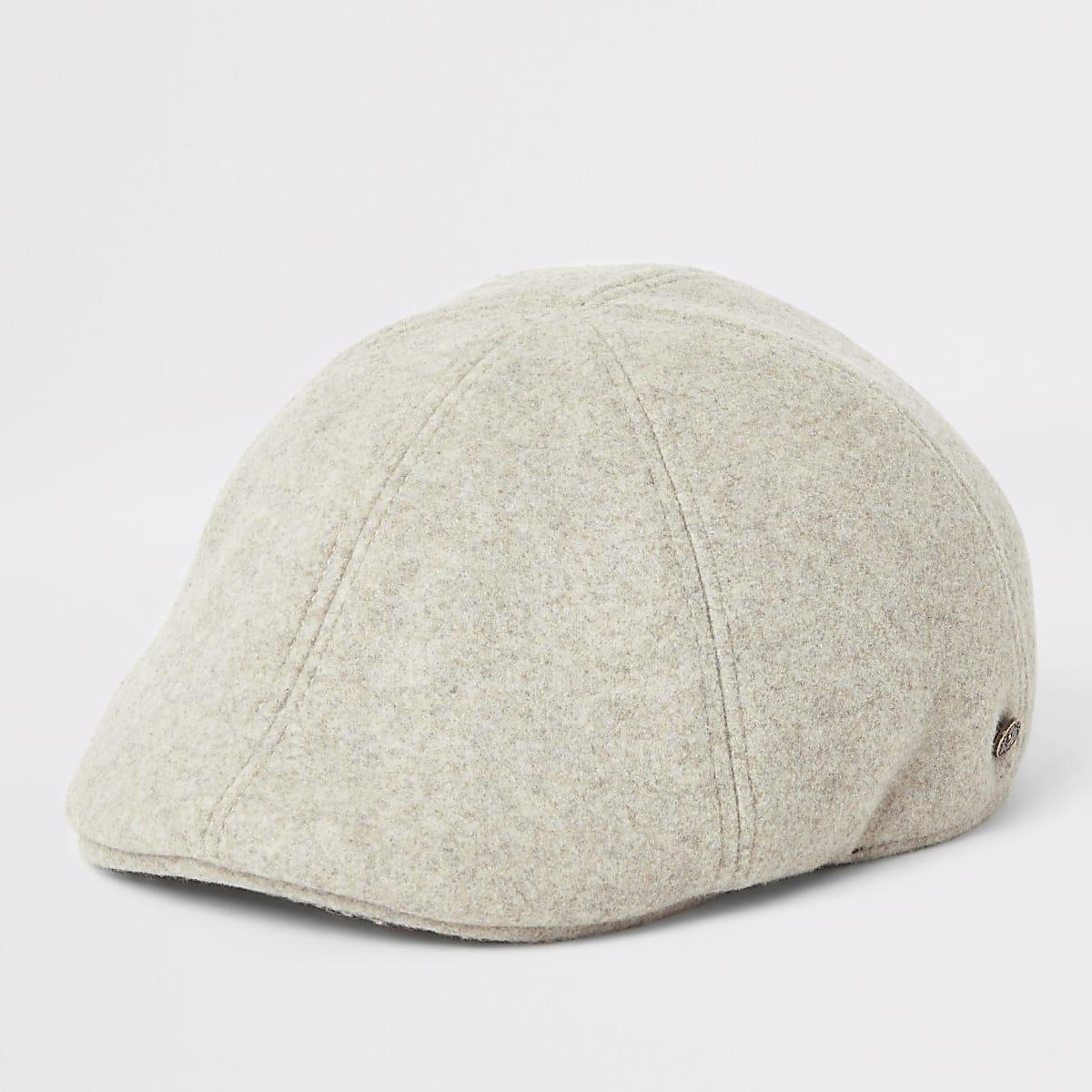 Ecru flat cap
