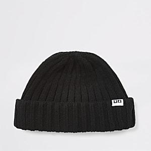 Bonnet RI en tricot noir