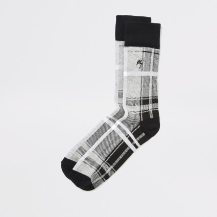 Grey check Maison Riviera socks
