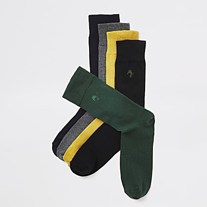 Yellow Maison Riviera sock 5 pack