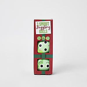 Grüne, spießende Jonglagebälle
