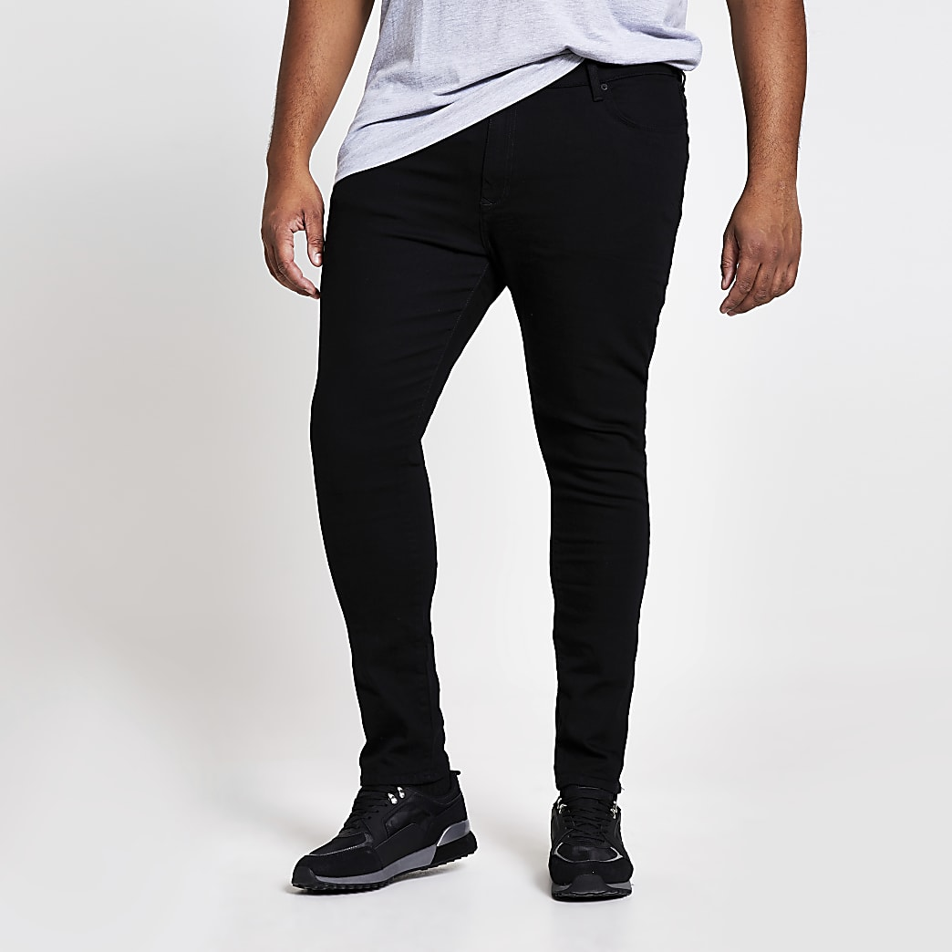 Big and Tall - Danny - Zwarte superskinny jeans