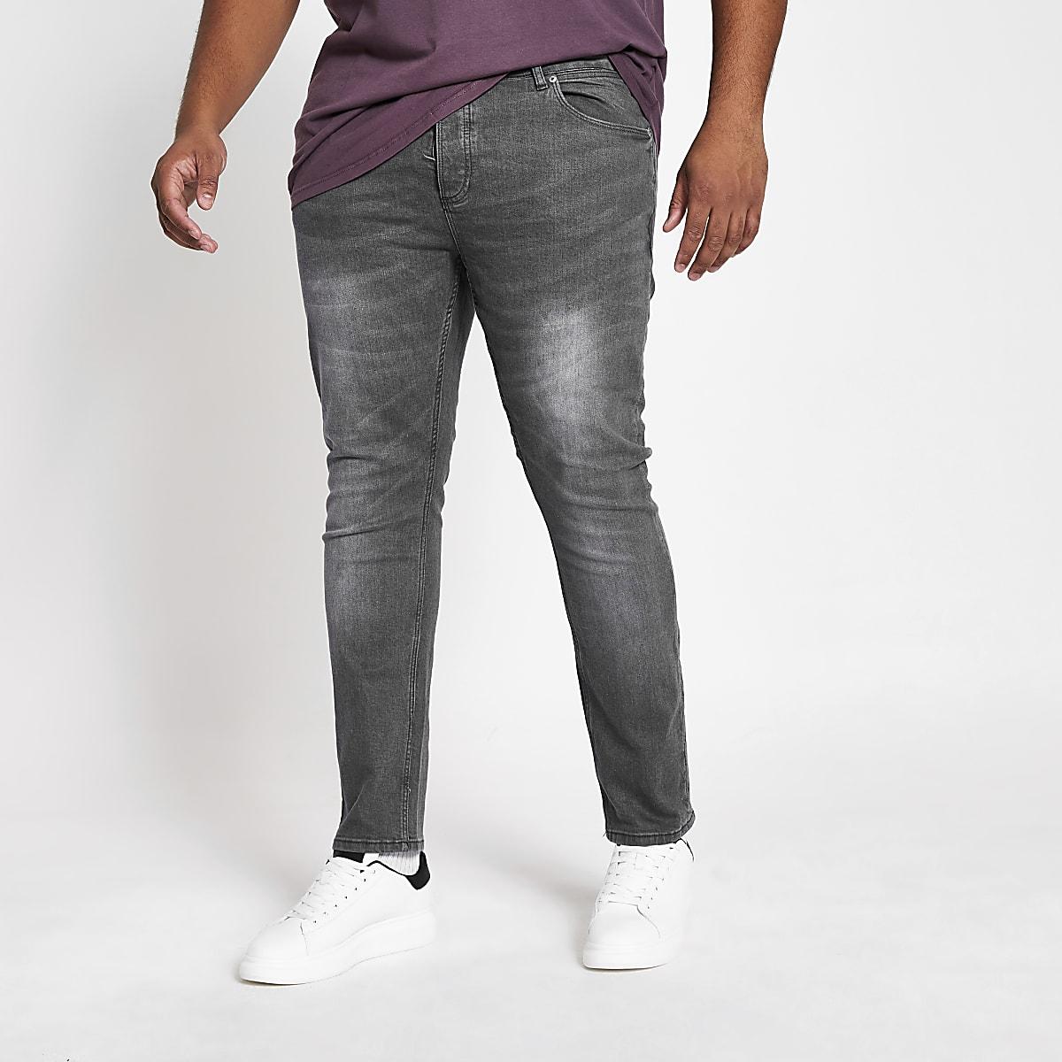 RI Big and Tall - Sid - Grijze skinny jeans