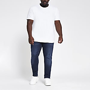 RI Big and Tall - Sid - Donkerblauwe skinny jeans