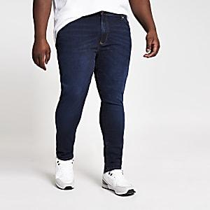 Big & Tall – Danny – Jean super skinny bleu