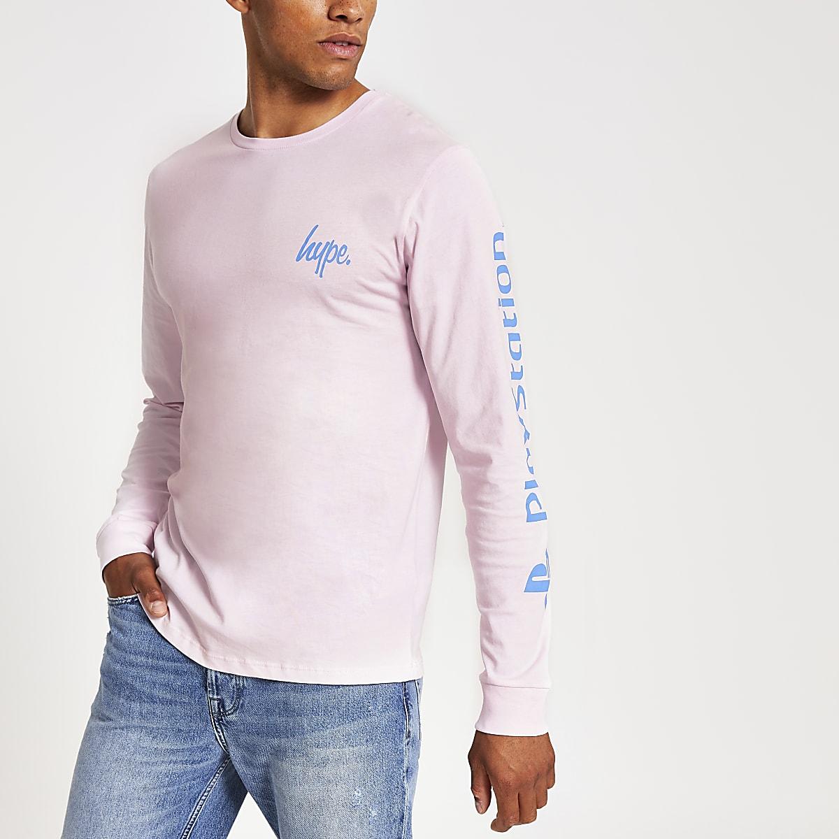 Hype PlayStation pink long sleeve T-shirt