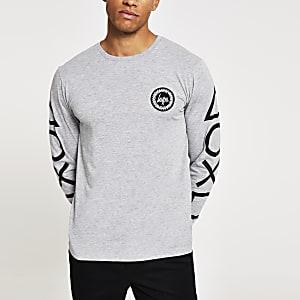 Hype– T-shirt manche longue gris PlayStation
