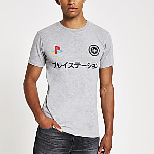 Hype – PlayStation – Graues T-Shirt mit Logo