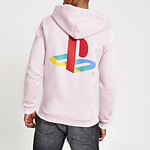 Hype – Sweat à capuche rose à écusson PlayStation