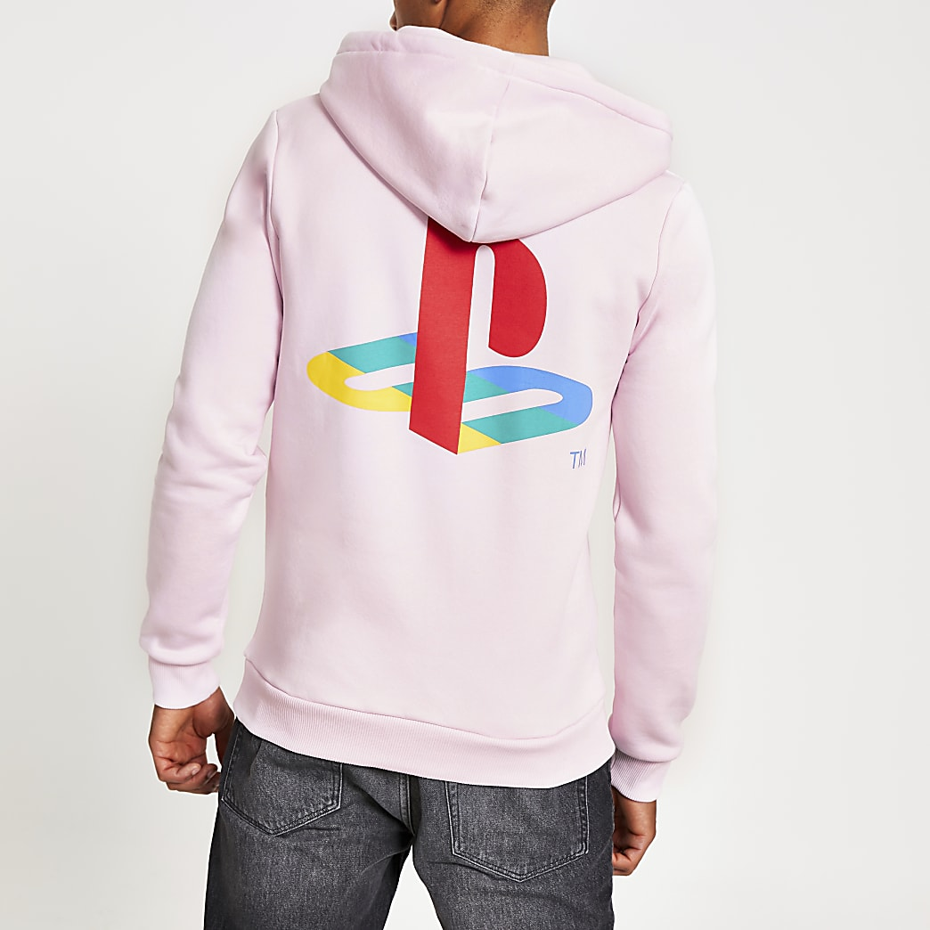 Hype PlayStation pink crest pullover hoodie