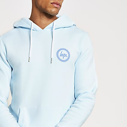 Hype PlayStation blue crest pullover hoodie