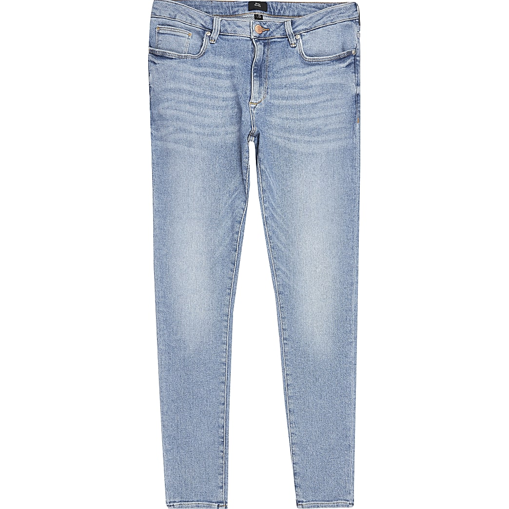 Light blue Ollie spray on jeans