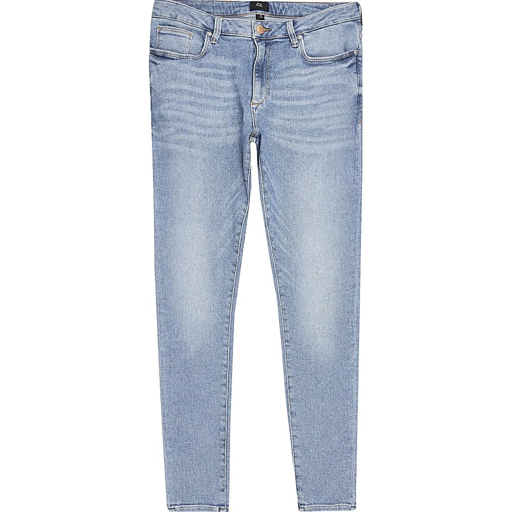 Ollie - Lichtblauwe spray-on jeans