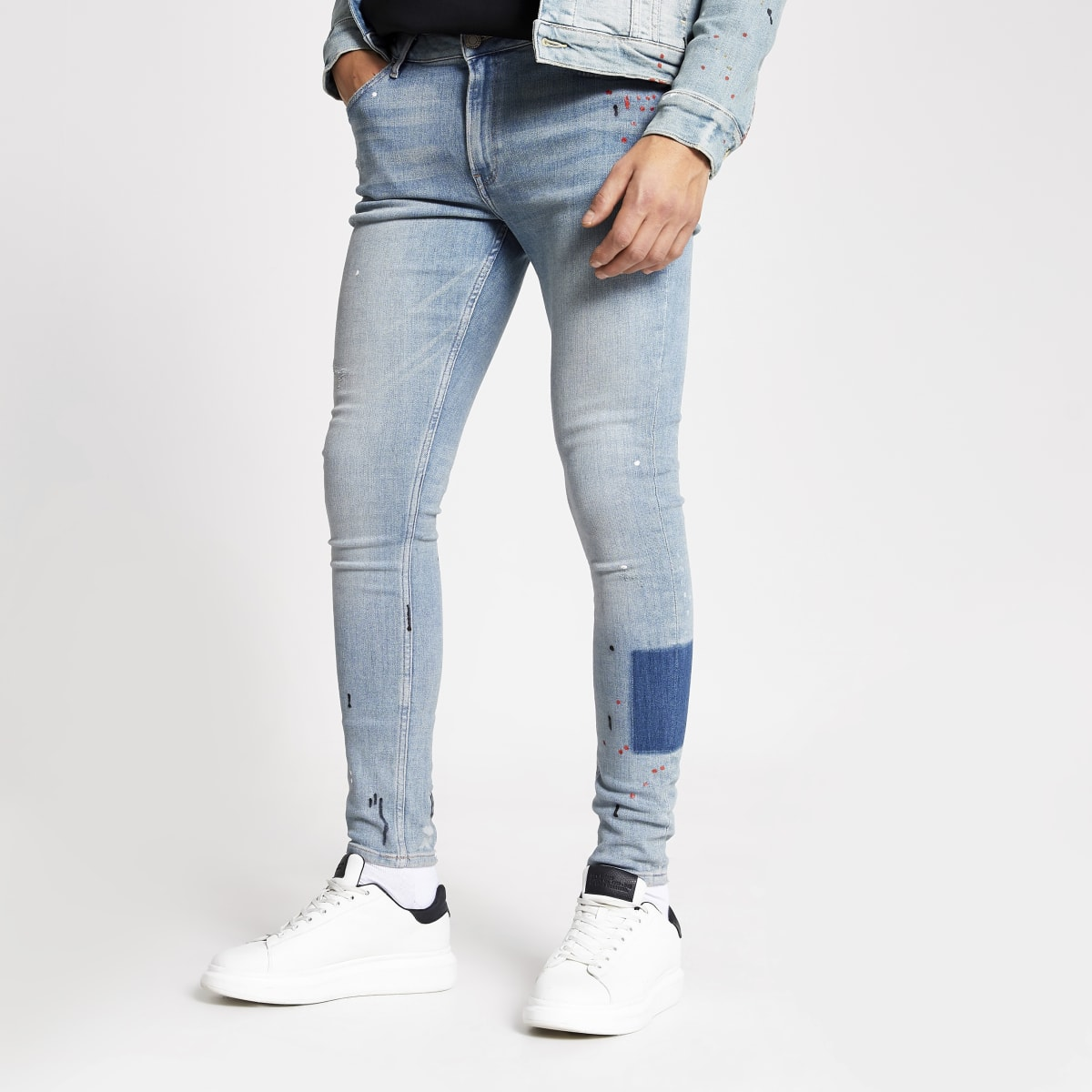 Smart Western mid blue Ollie spray on jeans