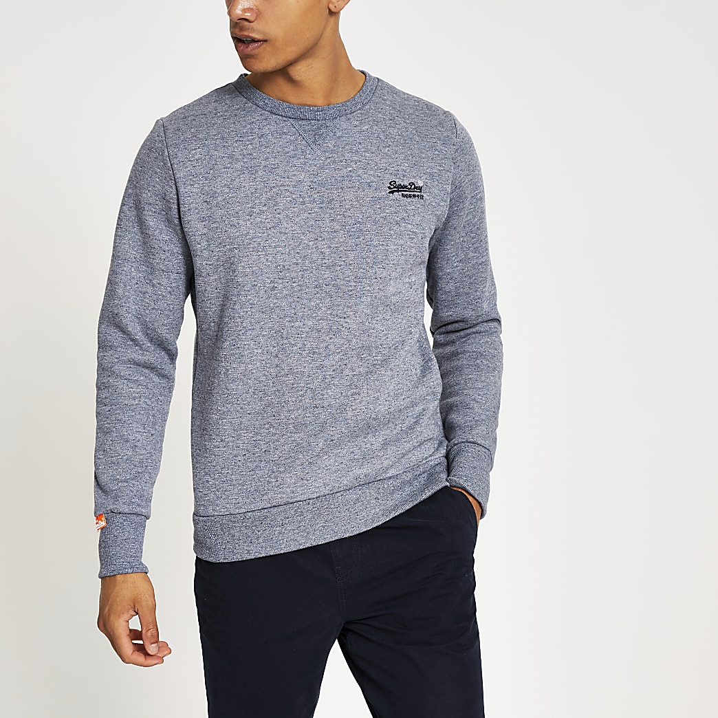 Superdry - Sweat gris Orange Label