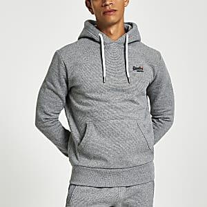 Superdry grey Orange Label hoodie