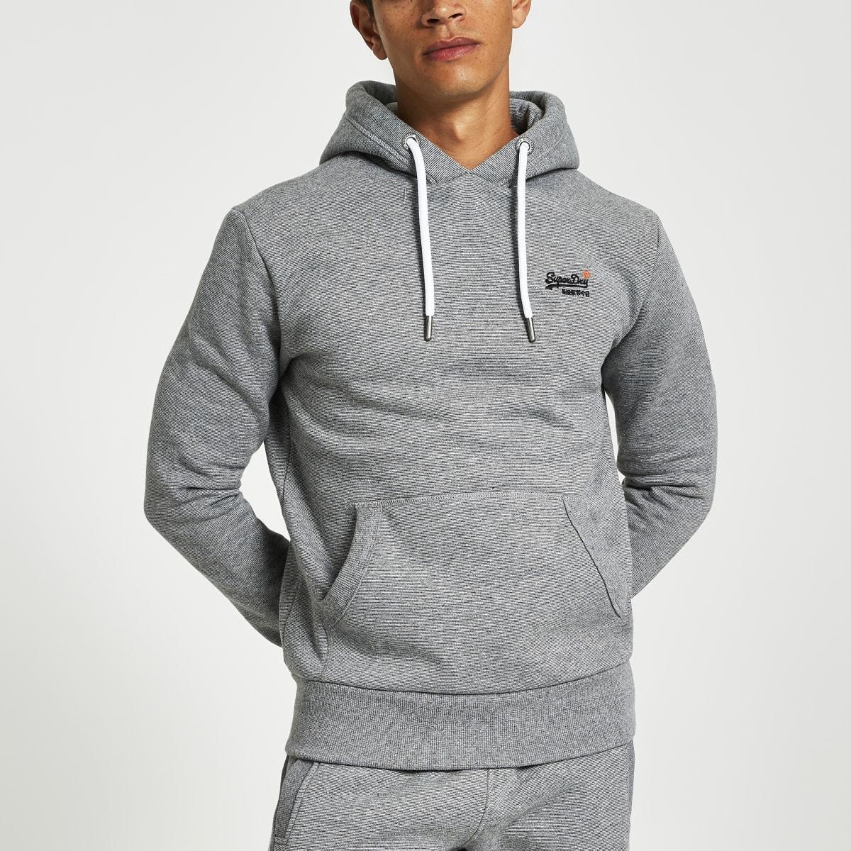 Superdry - Grijze hoodie uit de Orange Label-reeks