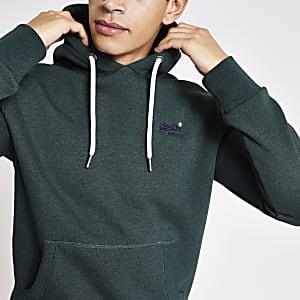 Superdry Orange Label - Donkergroene hoodie