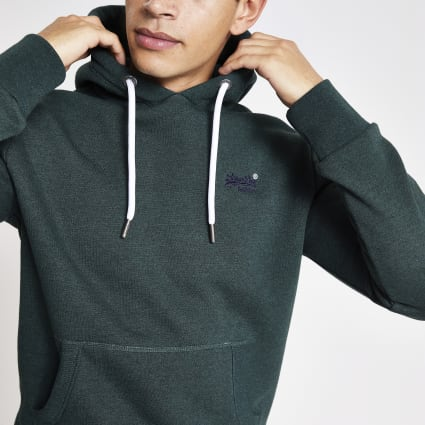Superdry dark green Orange Label hoodie