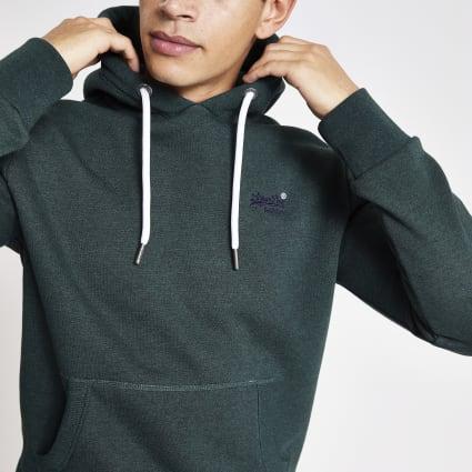 Superdry dark green Orange Label hoodie
