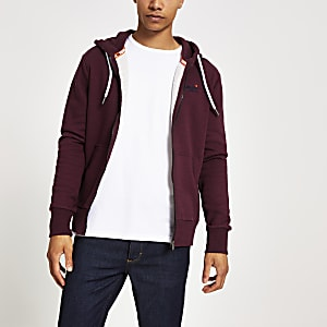 Superdry red Orange Label Classic hoodie