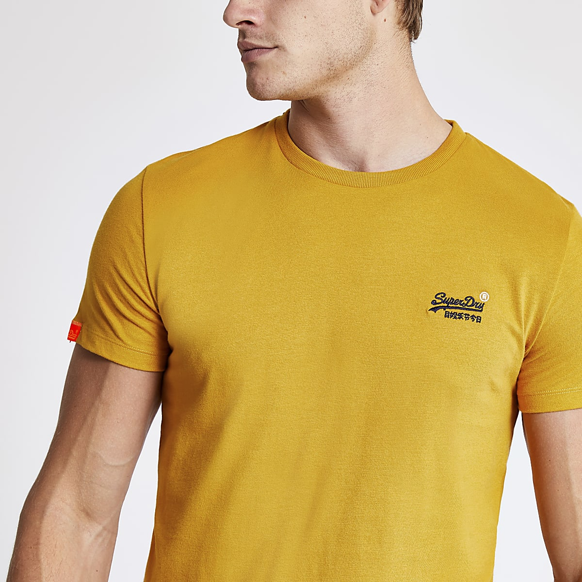 Superdry yellow short sleeve T-shirt