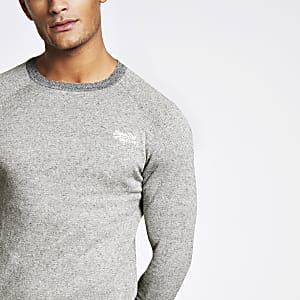 Superdry Orange Label - Sweat gris
