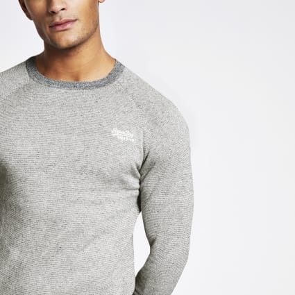 Superdry Orange Label grey sweatshirt