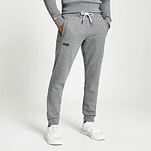 Superdry graue Jogginghose Orange Label Classic