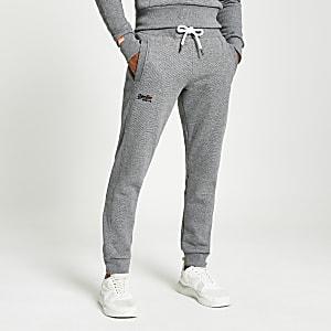 Superdry- Grijze classic joggingbroek uit de Orange Label-reeks