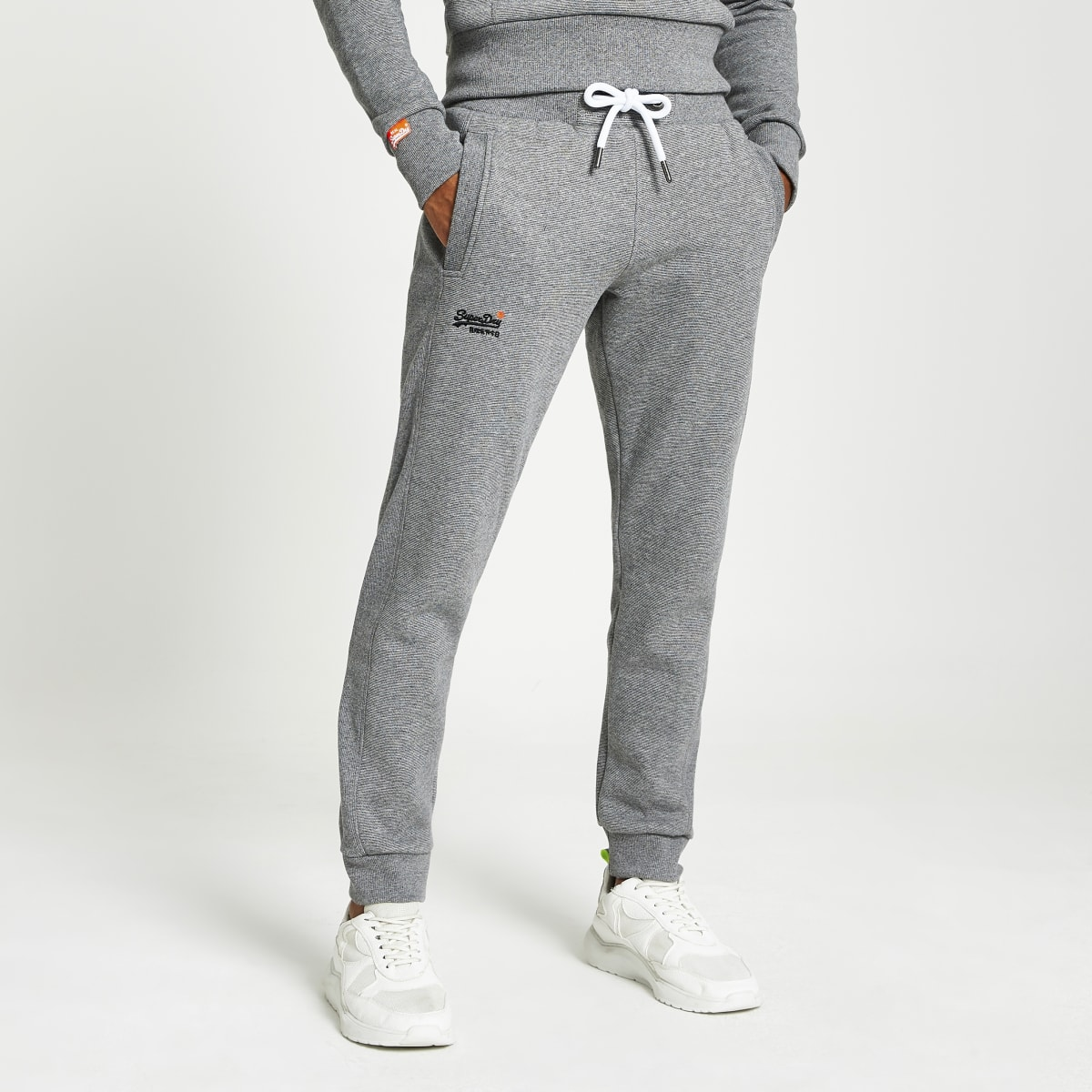 Superdry grey Orange Label Classic joggers