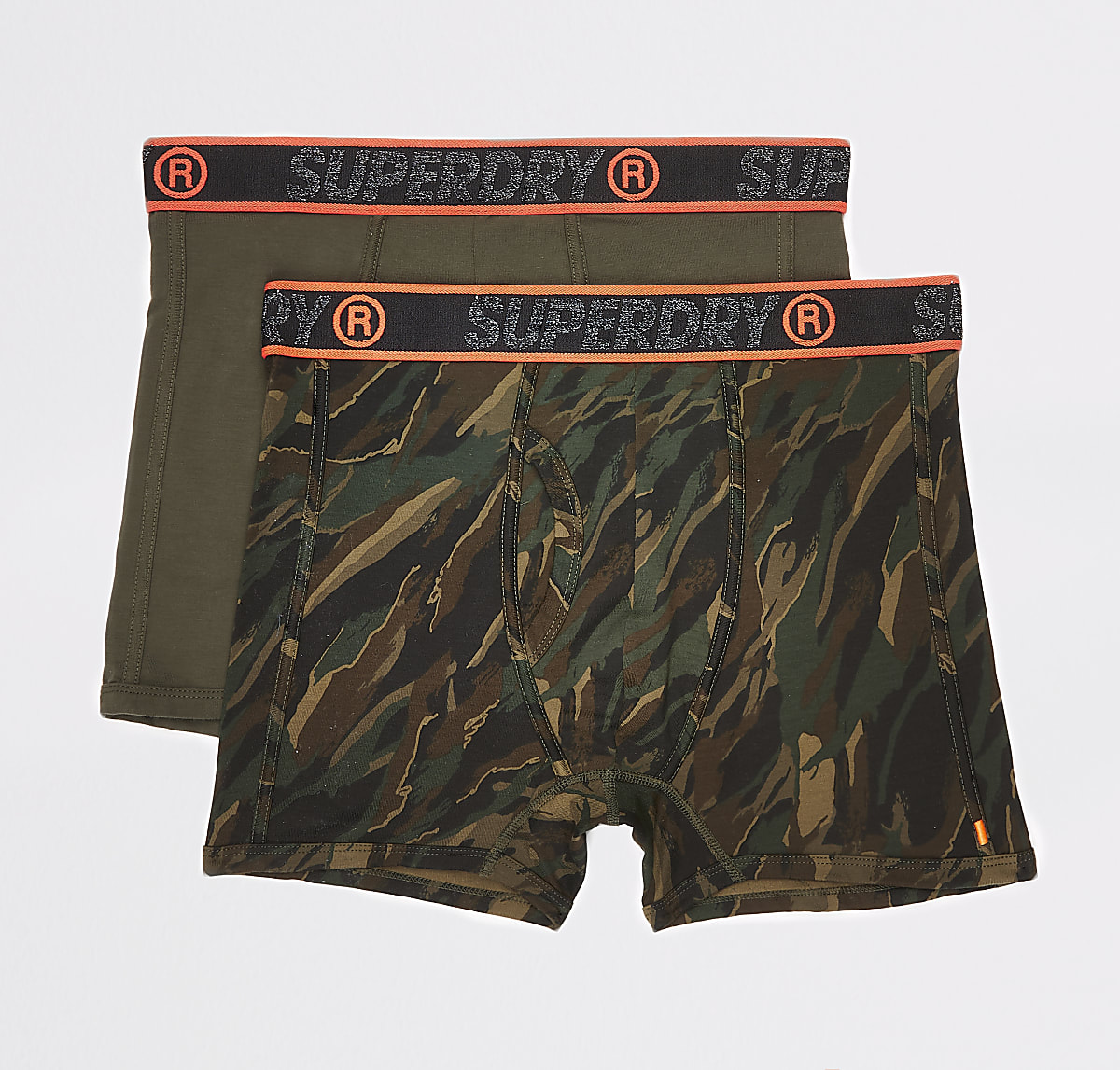 Superdry green camo sport boxer multipack