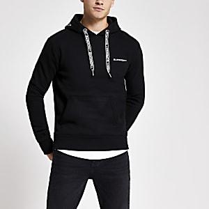 Superdry- Zwarte hoodiemet logo