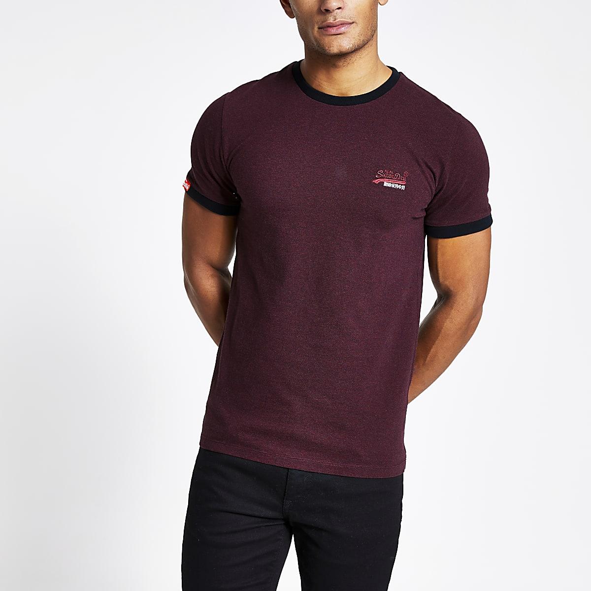 SuperdryOrange Label - T-shirt rouge foncé
