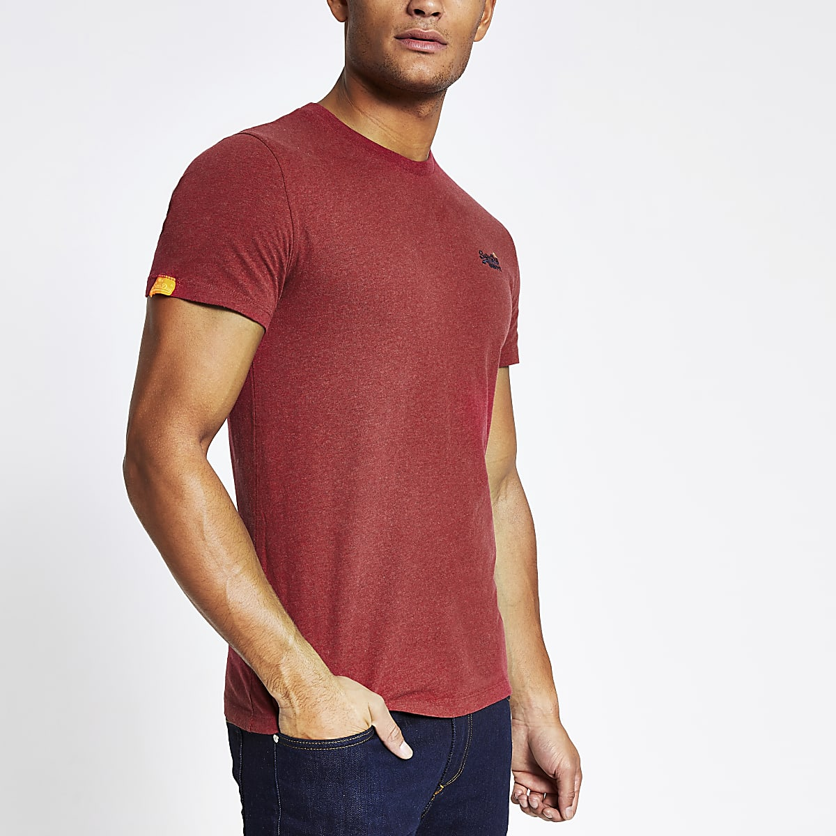 Superdry red chest logo short sleeve T-shirt