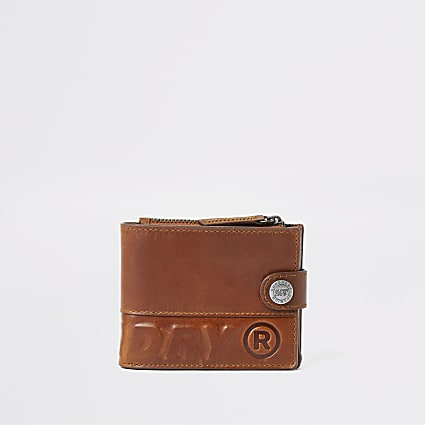 Superdry brown leather boxed wallet