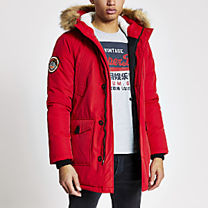Superdry – Rote Everest Parka-Jacke