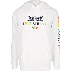 Levi's - Witte geborduurde hoodie